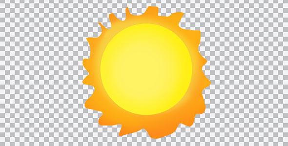 تصویر PNG خورشید با آفتاب