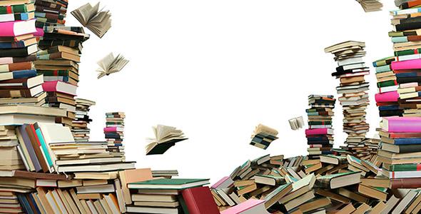 تصویر مجموعه کتاب بر روی هم