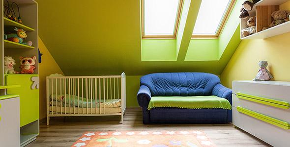 تصویر دکوراسیون و نمای داخلی اتاق کودک