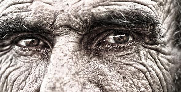 تصویر پرتره قدیمی مرد مسن