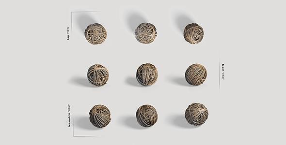 فایل لایه باز زوایای مختلف توپ کاموایی