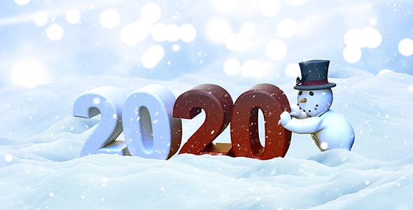 تصویر آدم برفی و کریسمس سال 2020