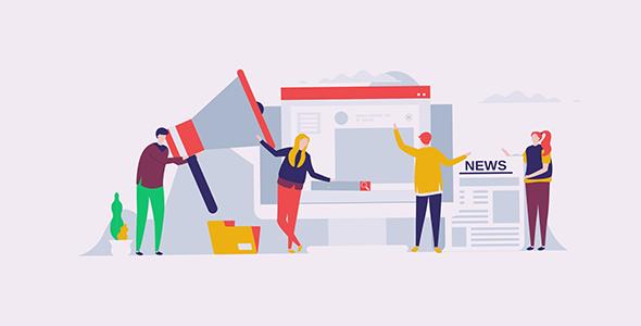 موشن گرافیک طراحی فلت تبلیغات اینترنتی