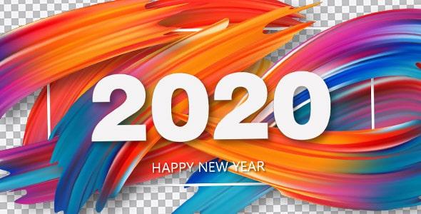 تصویر PNG انتزاعی سال 2020