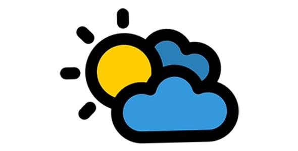 آیکون آب و هوای نیمه ابری