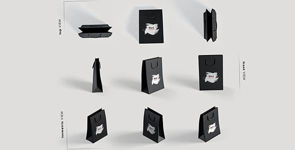 فایل لایه باز زوایای مختلف آیکون پاکت خرید