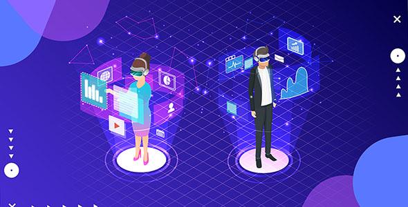 وکتور کاراکتر کارتونی با مفهوم تجارت آنلاین
