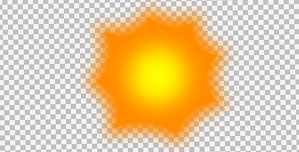 تصویر PNG خورشید کارتونی