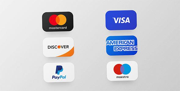 فایل لایه باز آیکون کارت های اعتباری