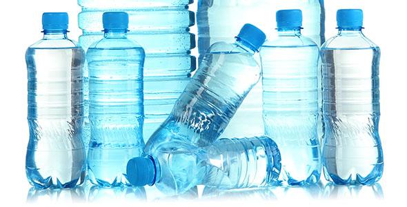 تصویر مجموعه بطری آب معدنی