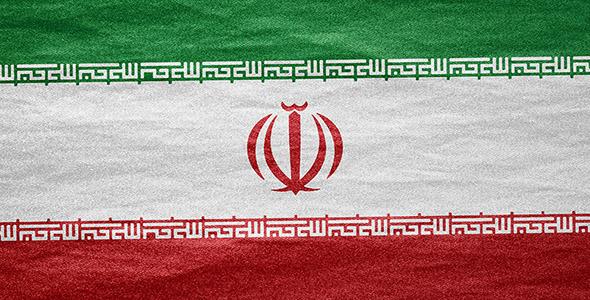 تصویر پرچم ایران روی بوم نقاشی
