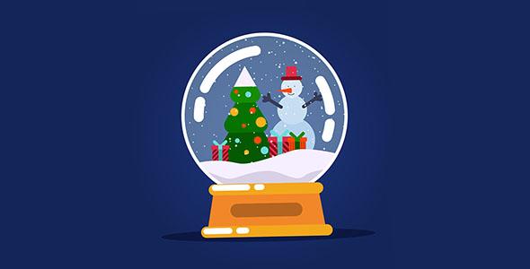 وکتور طراحی فلت گوی شیشه ای کریسمس