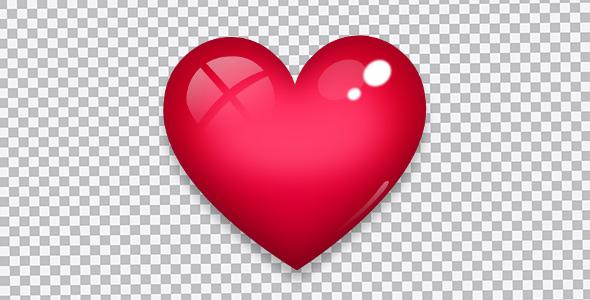 تصویر PNG قلب قرمز و براق