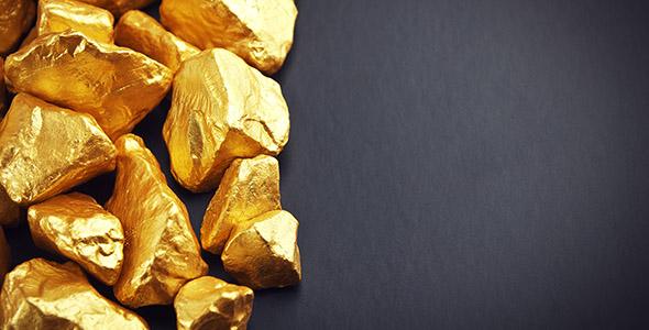 تصویر پس زمینه تکه های طلا