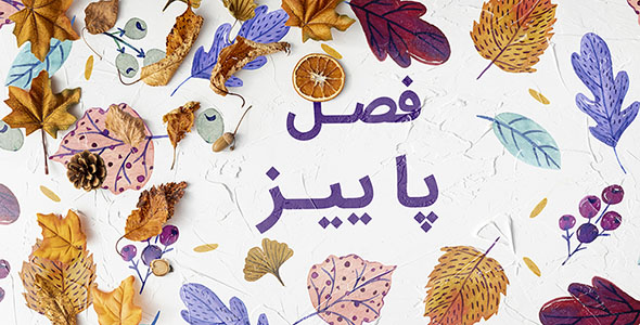 فایل لایه باز بنر پاییز با برگ های خشک