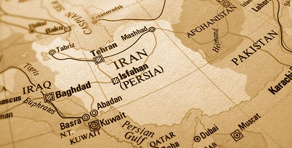 تصویر پس زمینه نقشه قدیمی ایران