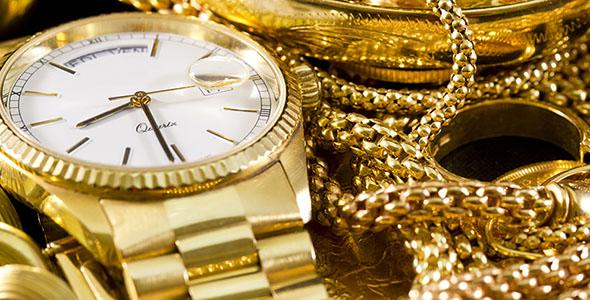 تصویر ساعت و دستبند با گردنبند طلا