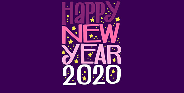 وکتور طرح گرافیکی سال نو میلادی 2020