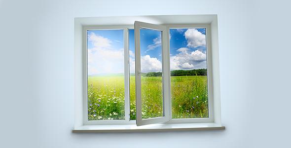 تصویر پس زمینه پنجره رو به باغ