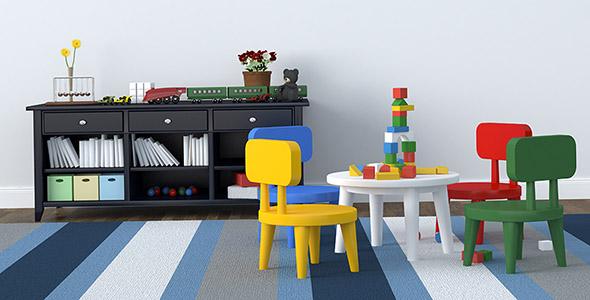 تصویر دکوراسیون اتاق بازی کودک