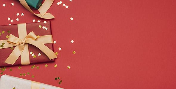 تصویر پس زمینه کادو تولد و کریسمس