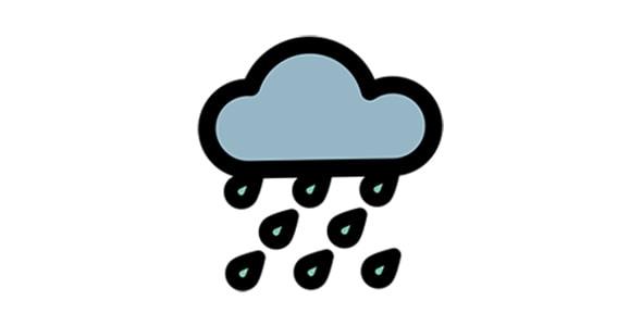 آیکون آب و هوای بارانی