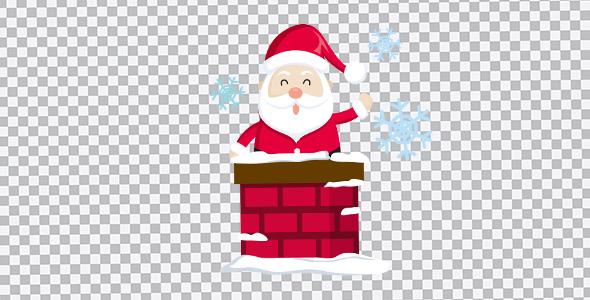 تصویر PNG بابانوئل و دانه برف