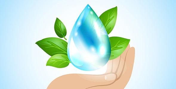وکتور با مفهوم صرفه جویی مصرف آب