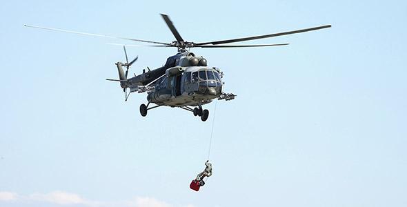 تصویر پس زمینه هلیکوپتر امداد
