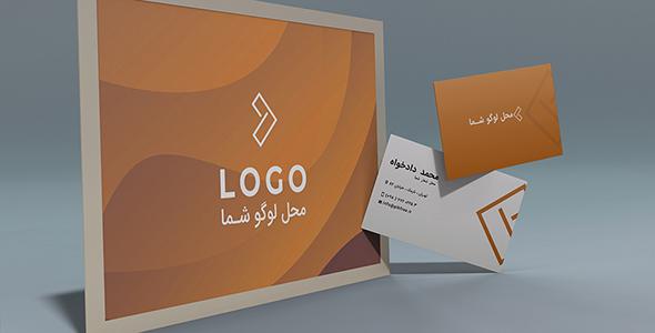 فایل لایه باز کارت ویزیت و افکت موج نارنجی