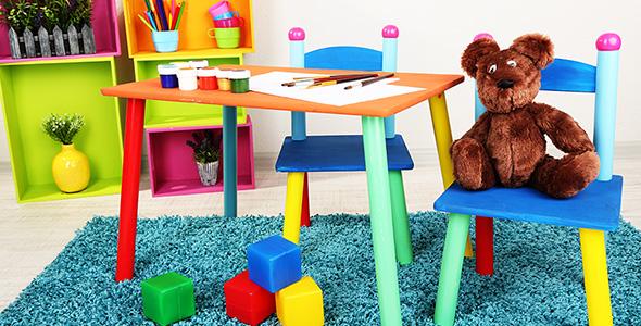 تصویر میز و صندلی اتاق خواب کودک