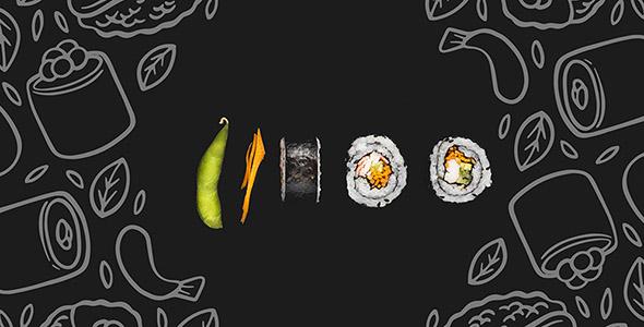 فایل لایه باز پس زمینه رستوران و سوشی