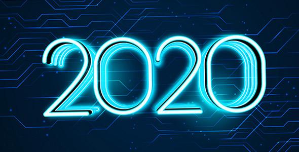 وکتور سال 2020 با مفهوم فناوری و تکنولوژی
