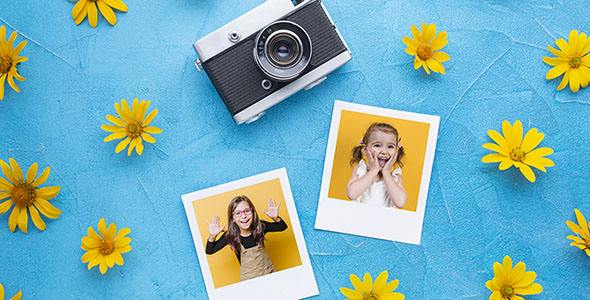 فایل لایه باز موکاپ دوربین عکاسی و فریم