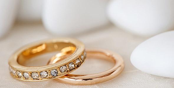 تصویر حلقه های ازدواج و عروسی