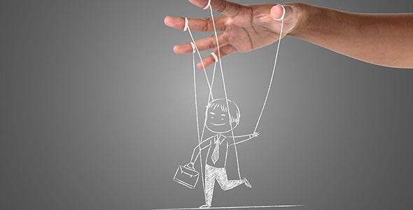 تصویر دست انسان با مفهوم مدیریت تجارت
