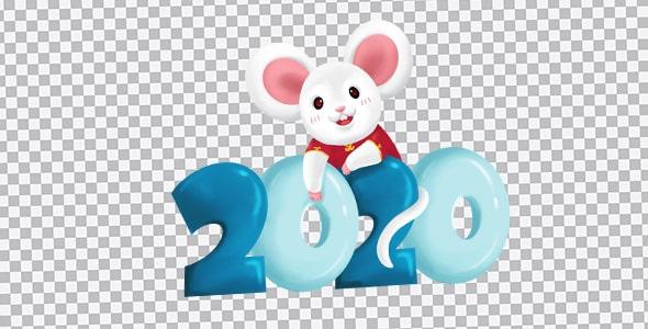 تصویر PNG سال 2020 و سال موش