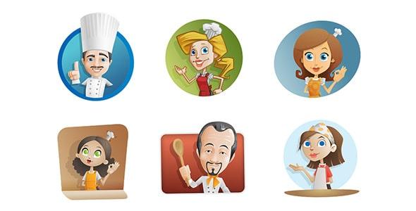 فایل لایه باز کاراکتر کارتونی سرآشپز