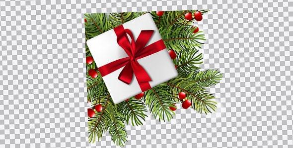 تصویر PNG درخت و کادو کریسمس