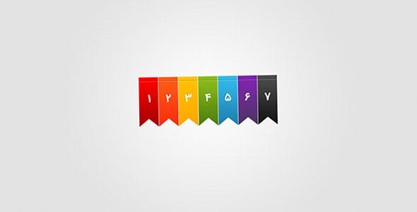 فایل لایه باز مجموعه لیبل و برچسب رنگی