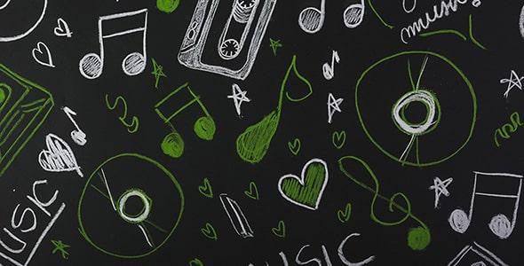 تصویر دست کشیده با مفهوم موسیقی