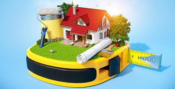 تصویر با مفهوم ساخت و ساز خانه