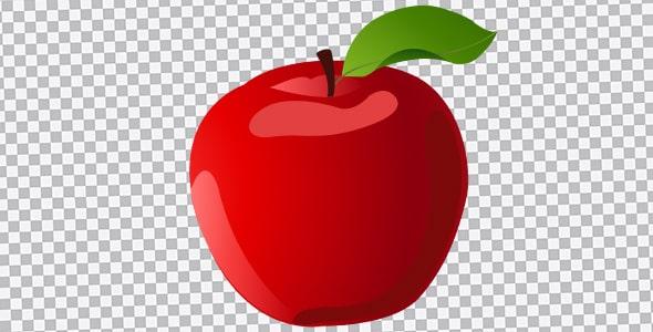 تصویر PNG سیب قرمز سفره هفت سین