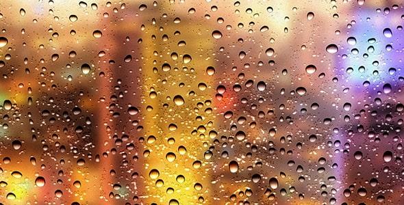 فایل لایه باز قطره باران و آب روی شیشه