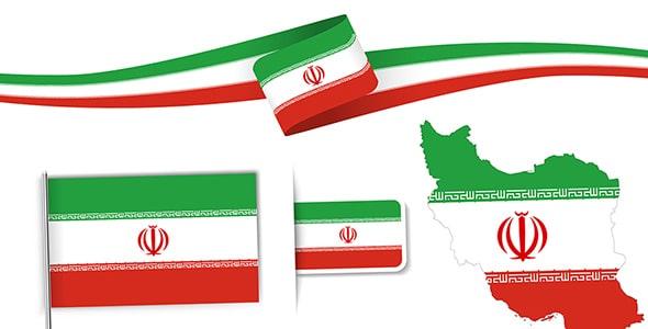 وکتور طرح های پرچم کشور ایران