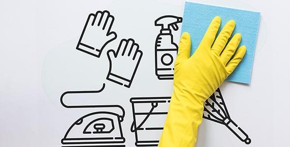 فایل لایه باز موکاپ خدمات نظافت و تمیزی