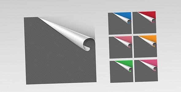 فایل لایه باز مجموعه کاغذ رنگی تا خورده