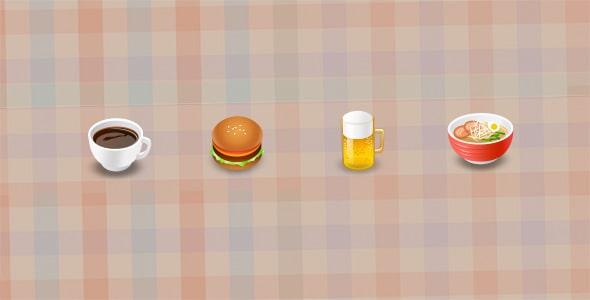 فایل لایه باز آیکون مجموعه غذا و نوشیدنی