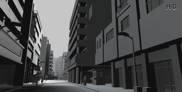 ویدیو 3D معماری ساختمان و نمای شهری