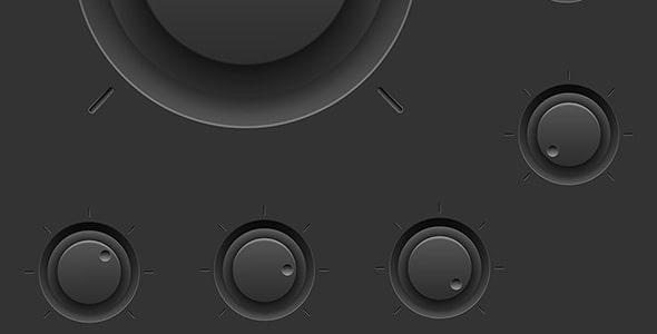 وکتور مجموعه دکمه کنترل صدا یا ولوم